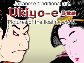 Japanese traditional art Ukiyo-e pictures of the floating world