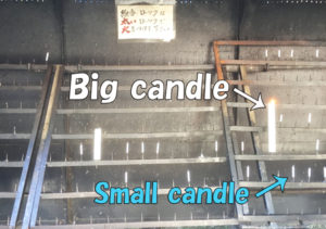 Light your candle and incense using the big candle already lighted.